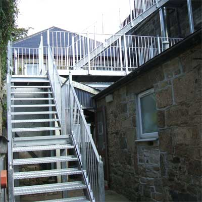 Galvanised stairs