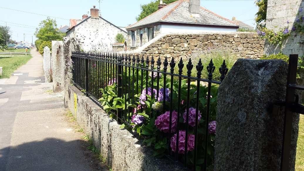 Ornate railings Cornwall