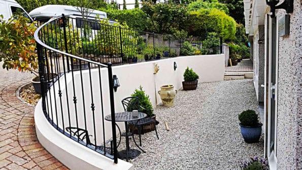 angle curved railings cornwall
