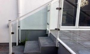 angled glass balustrade