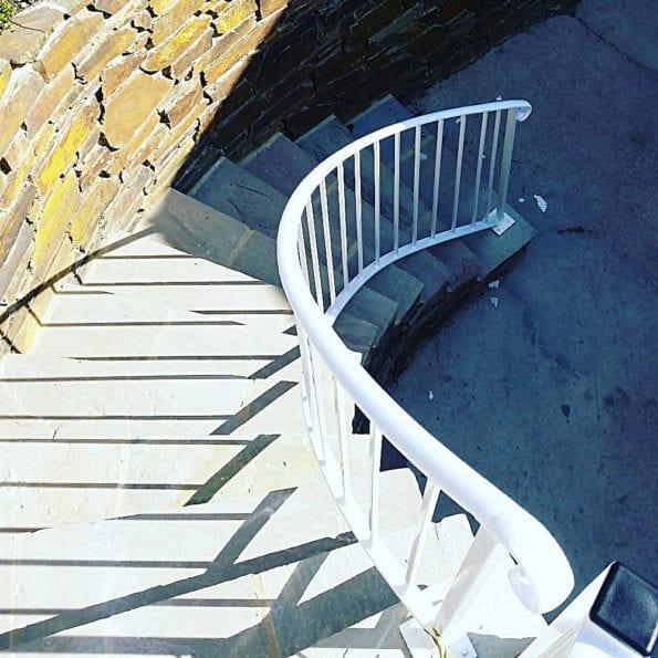 angled handrails