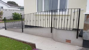 black painted handrails cornwall