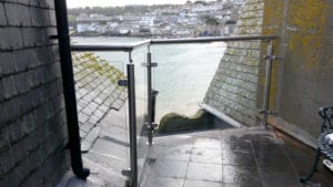 cornwall glass balustrade