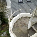 curved spiral handrail