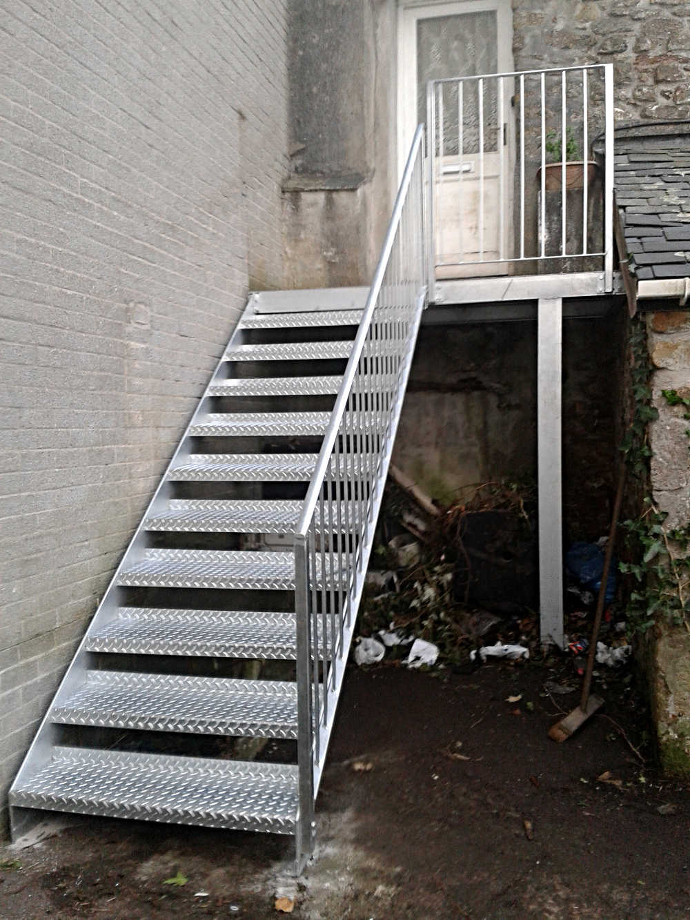 External Fire Escape Cornwall · Internal Galvanised Stair