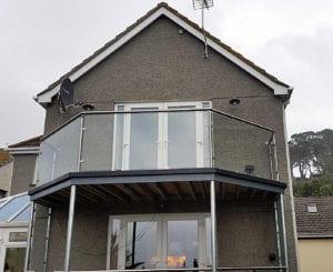 galvanised balcony structure
