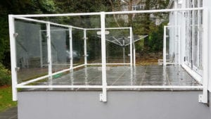 galvanised glass balustrade
