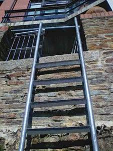 galvanised ladder