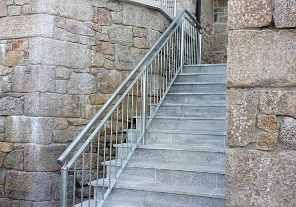 galvanised safety handrails