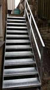 galvanised tread staircase