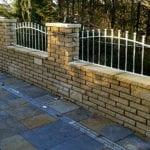 galvanised wall railings