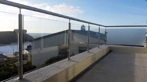 glass balustrade stainless steel