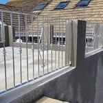 hot dipped galvanised railings