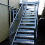 hot dipped galvanised staircase