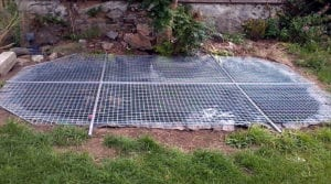 metal fish pond cover