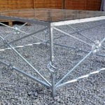 outdoor metal table