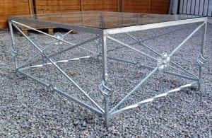 outdoor metal table