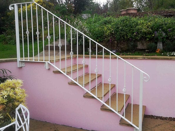 painted metal handrails