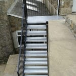 painted metal staircase cornwall