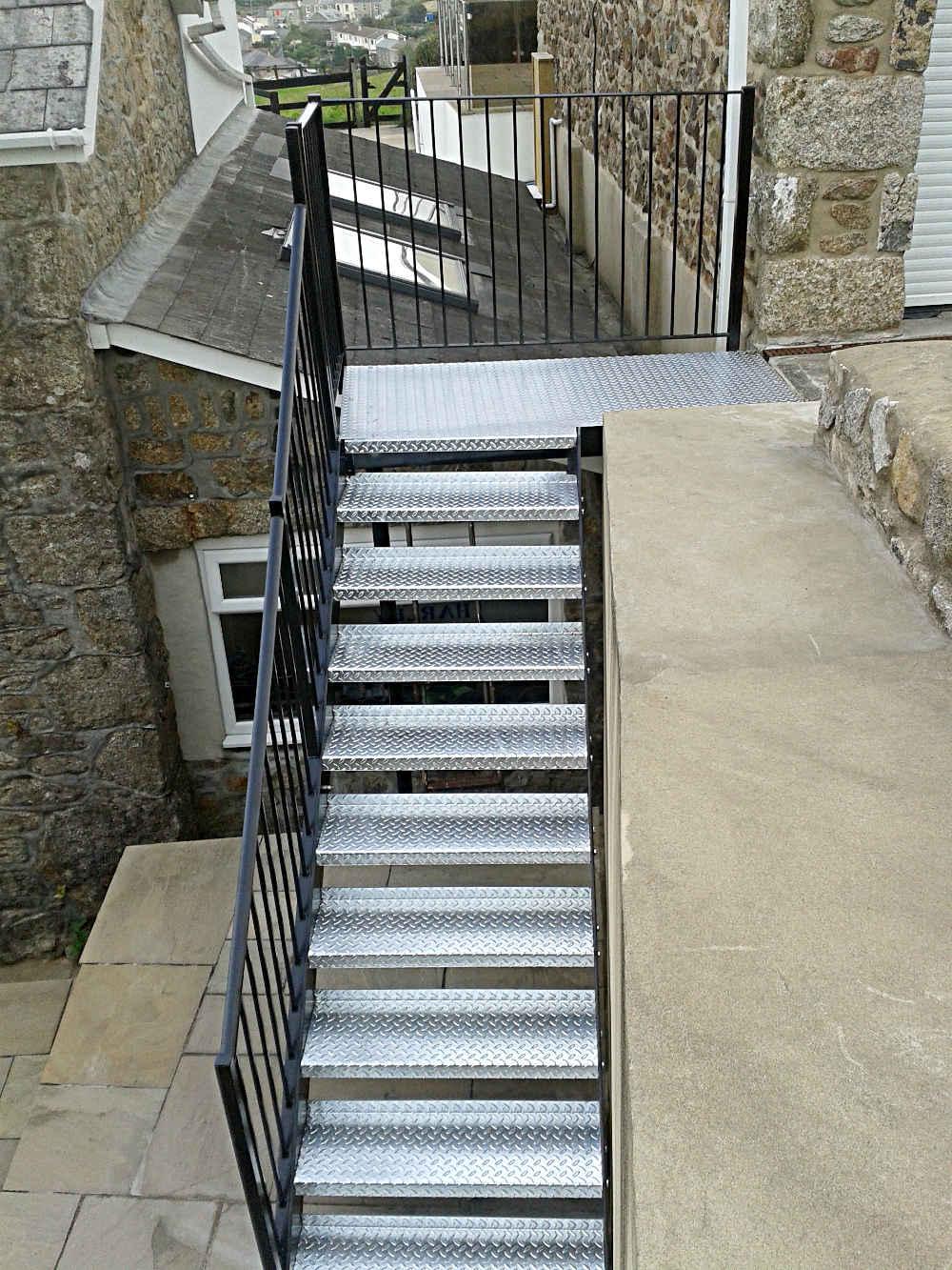 Painted Metal Staircase Cornwall