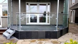safety glass balustrade