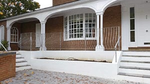 straight metal railings