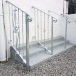 Metal handrails at Jays Gates Showroom