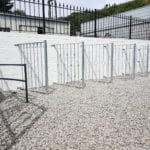 Metal railings at Jays Gates Showroom