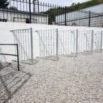 Metal railings at Jays Gates Showroom