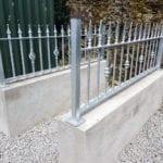 Ornamental metal railings