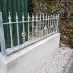 Ornamental metal railing