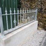 Ornamental metal railing