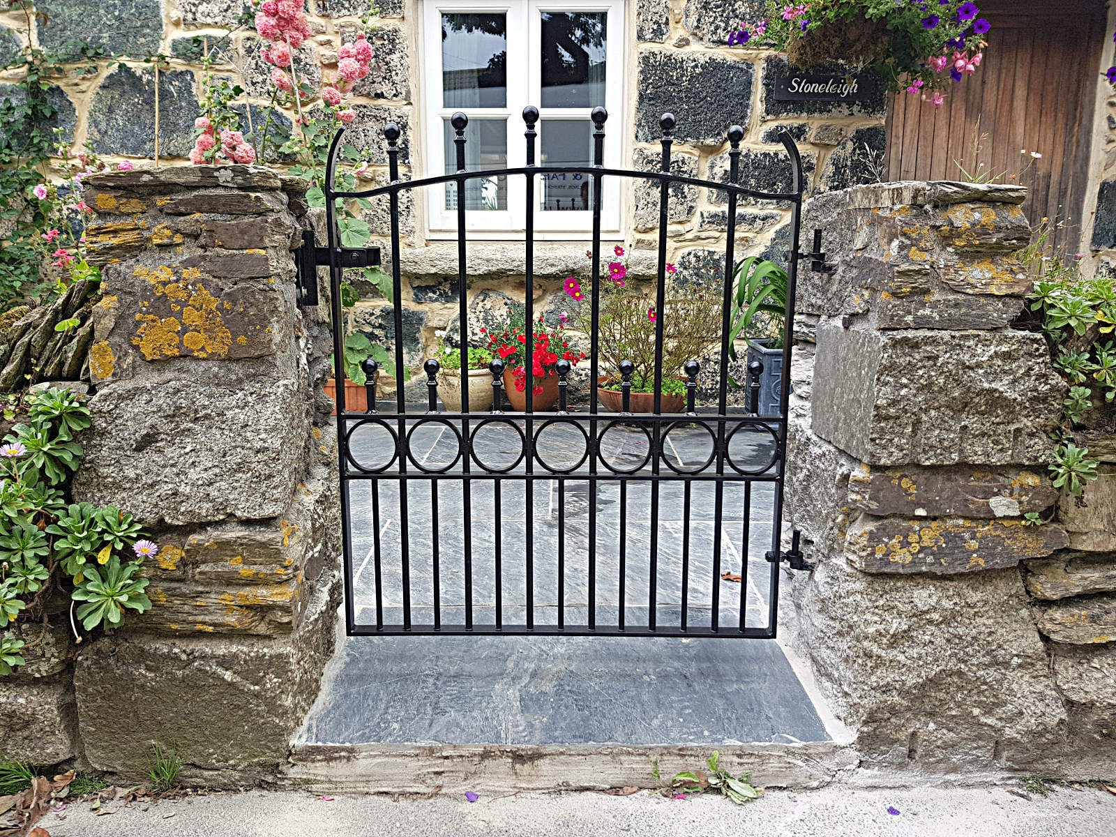 ornamental metalwork gate Cornwall